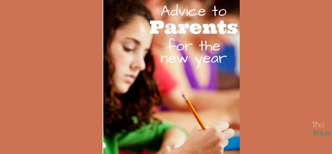 Advice to Parents for the New Year
