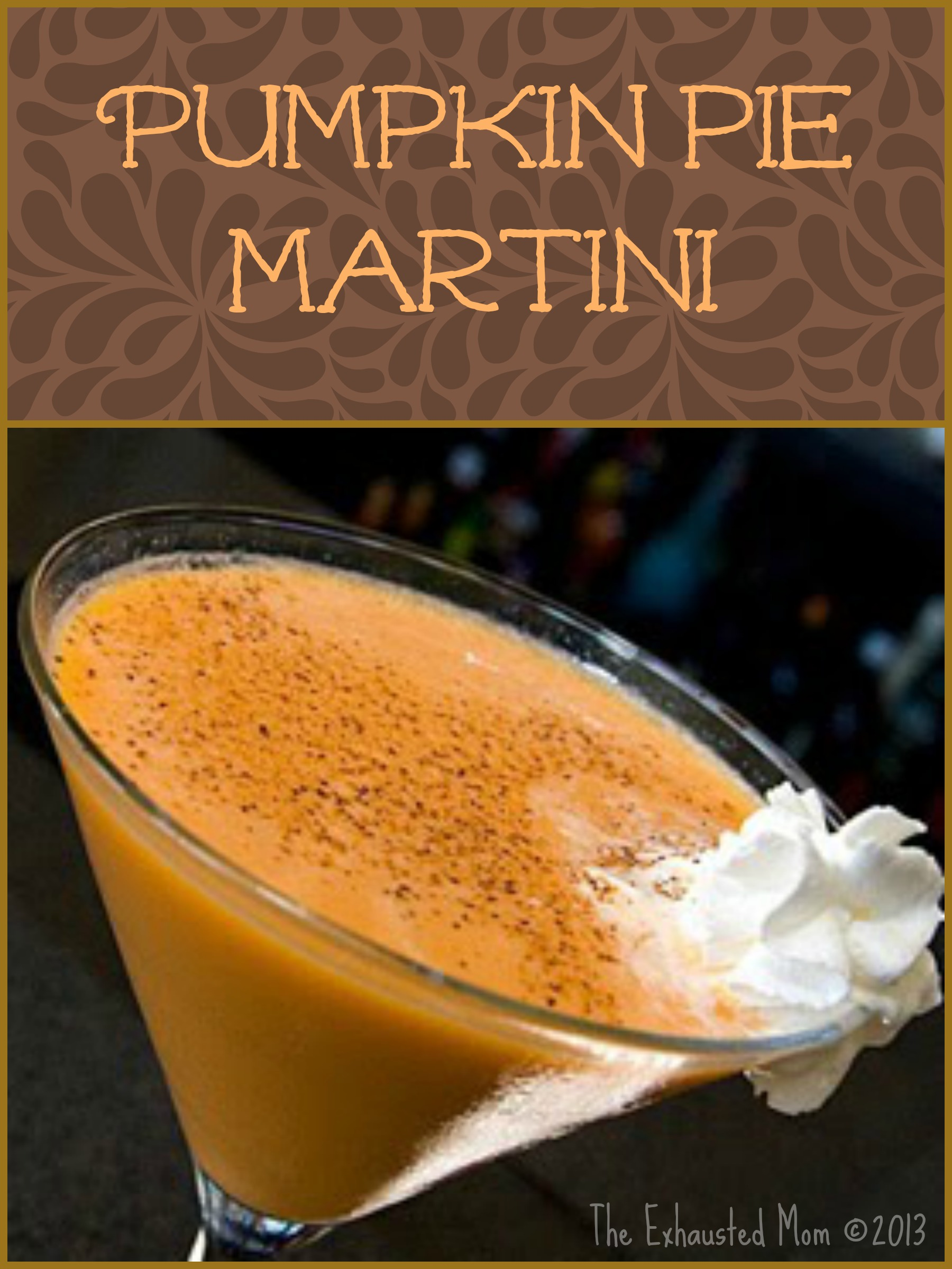 Thirsty Thursday ~ Pumpkin Pie Martini
