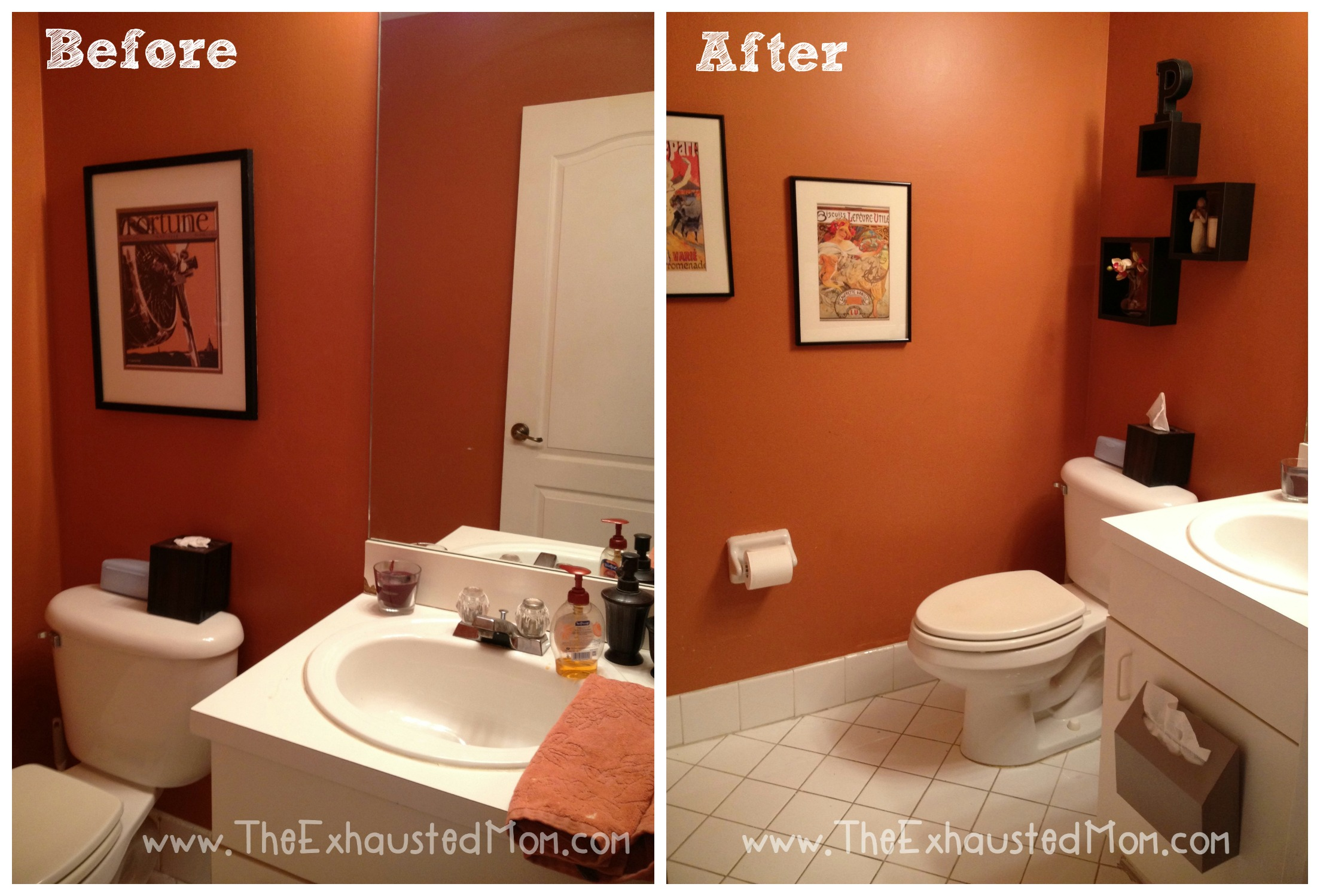 A Guest Ready Bathroom Easy Redecorating The Exhausted Mom