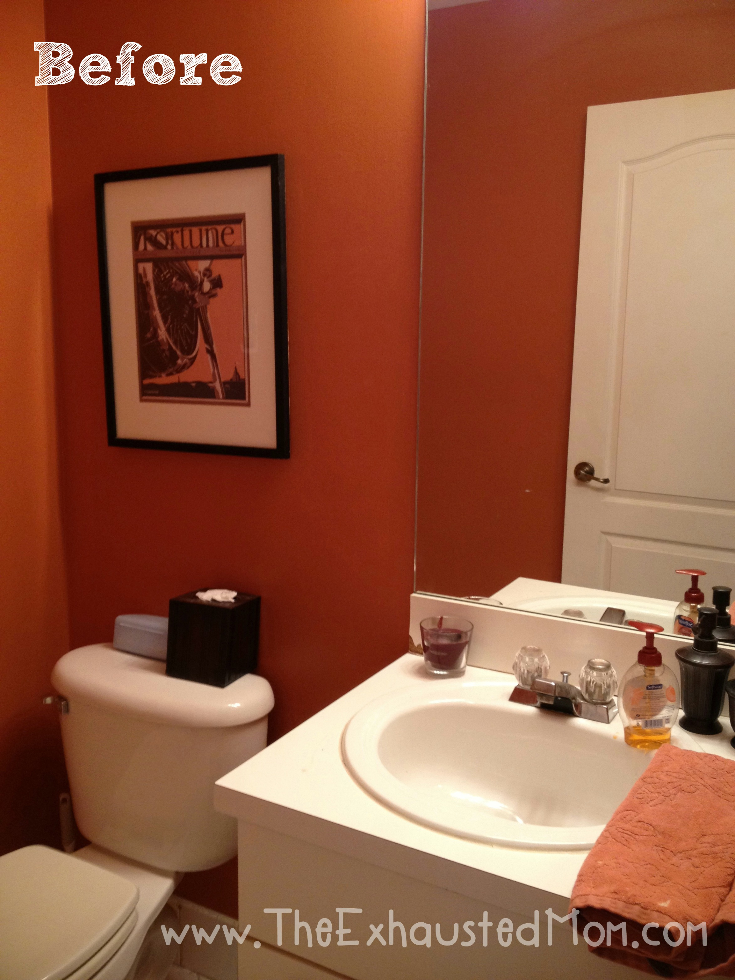 A guest ready bathroom easy redecorating the exhausted mom for Bathroom decor 2012