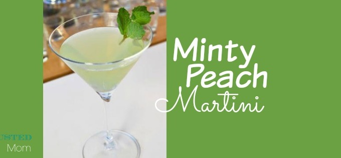 Minty Peach Martini