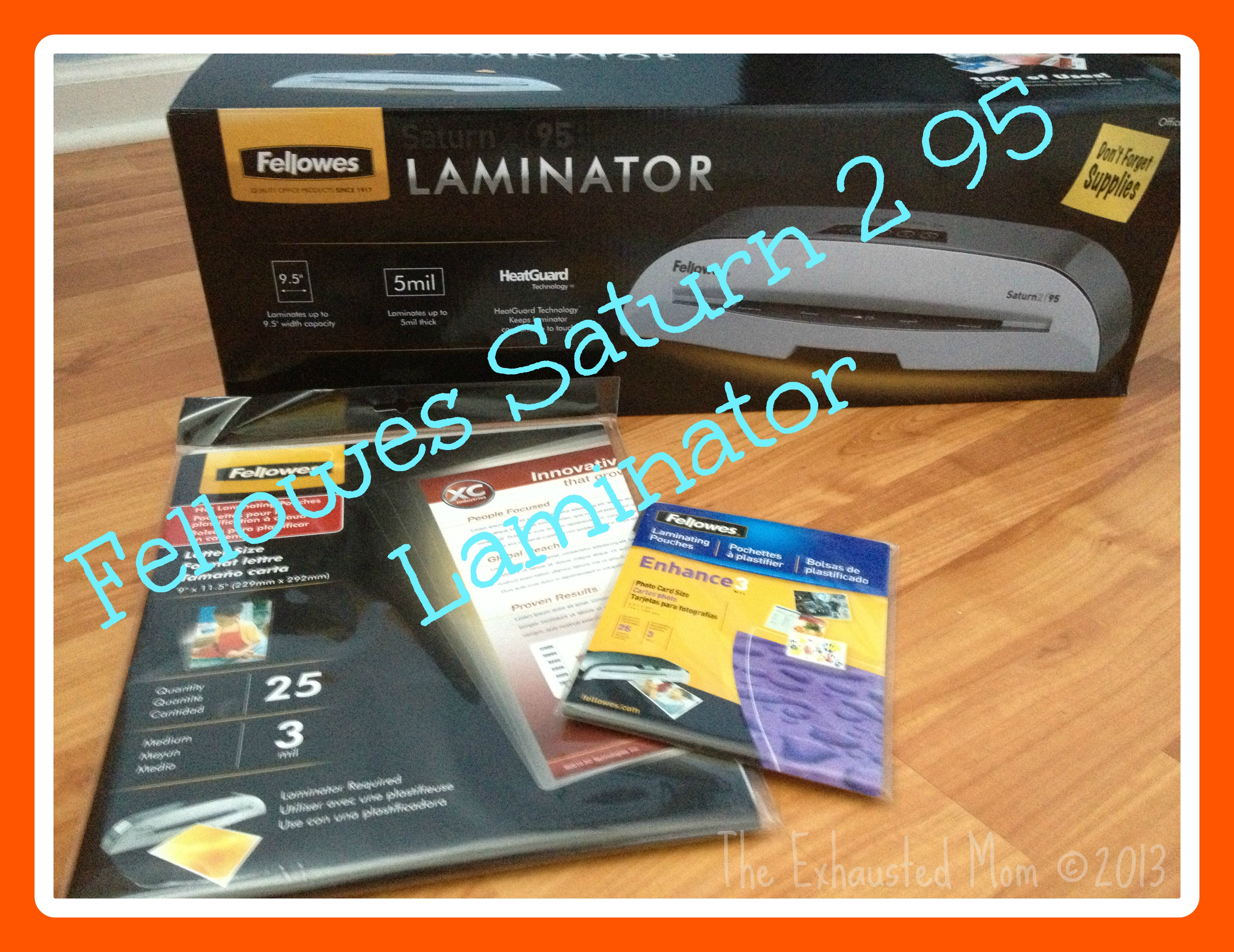 Back to School with Fellowes Saturn 2 95 Laminator {Giveaway}