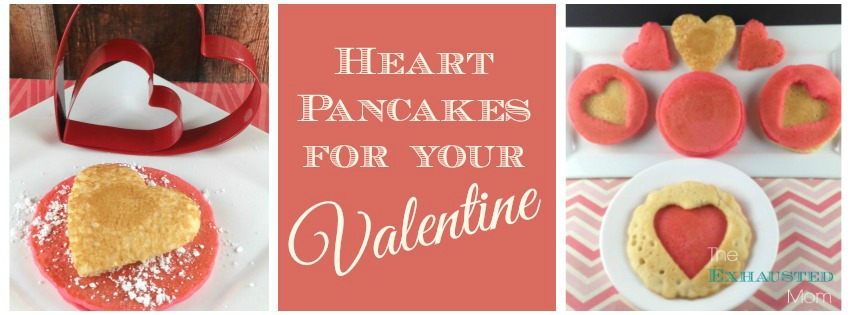 Heart Pancakes for Valentine's Breakfast