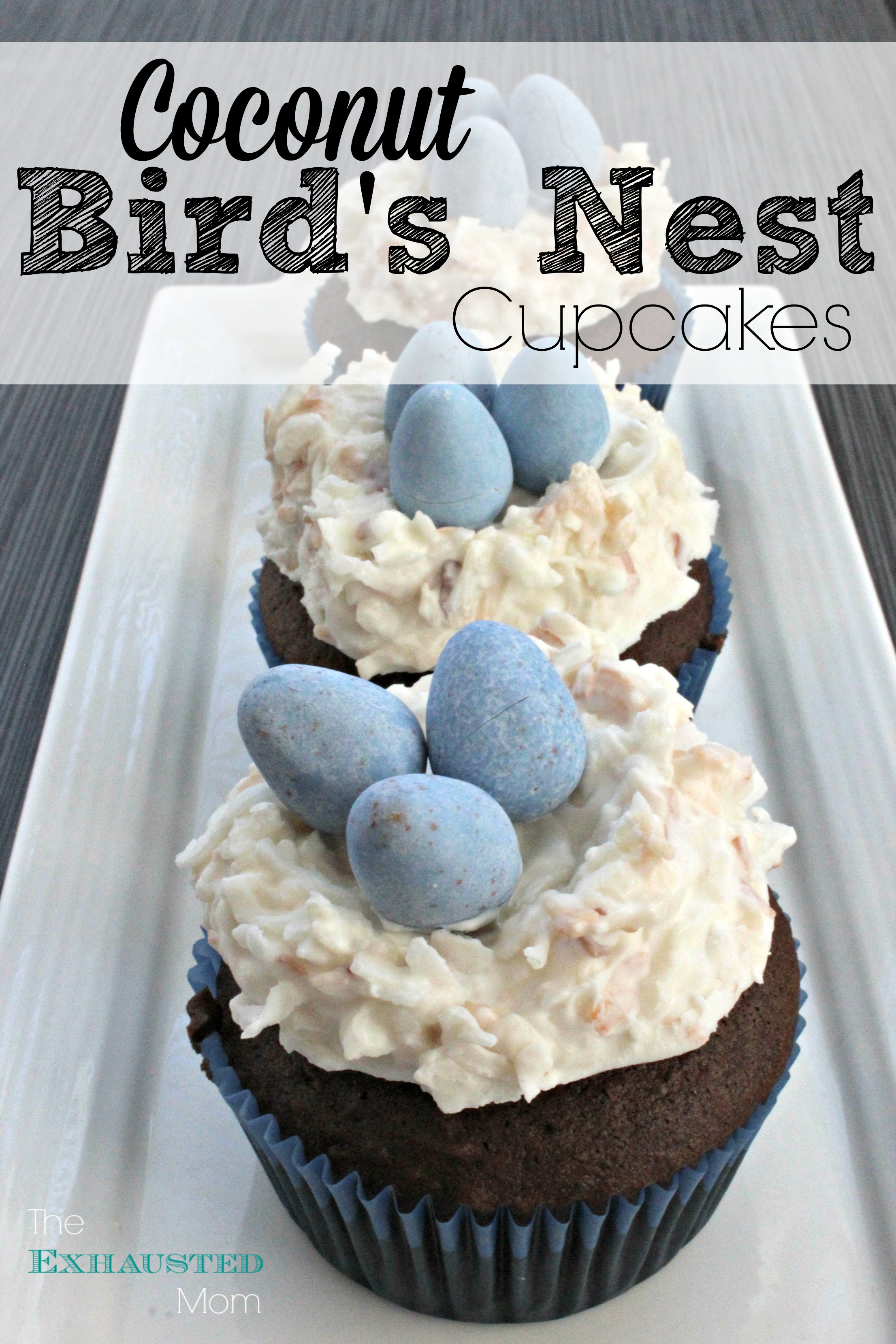 Coconut Bird's Nest Cupcakes