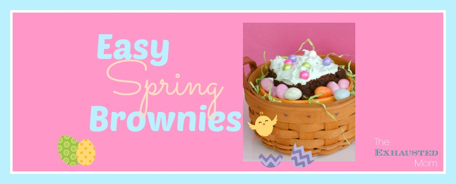Easy Spring Brownies