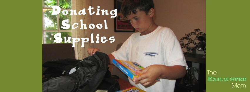 Donating School Supplies – Giving Back to the Classroom