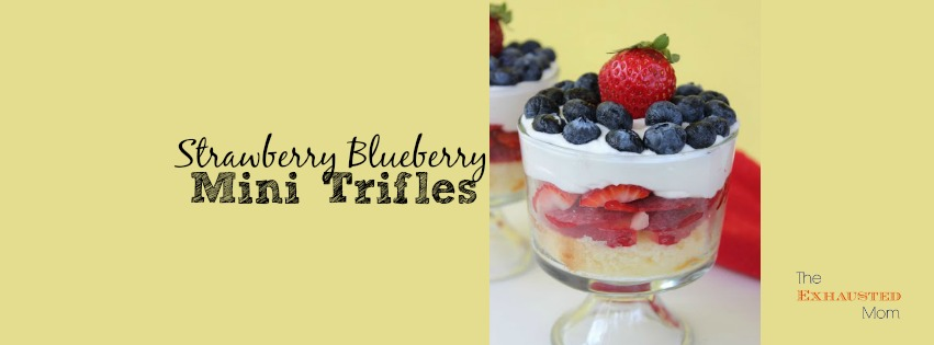 Strawberry Blueberry Mini Trifles