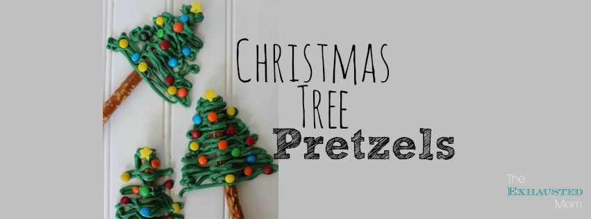 christmas tree pretzels the exhausted mom