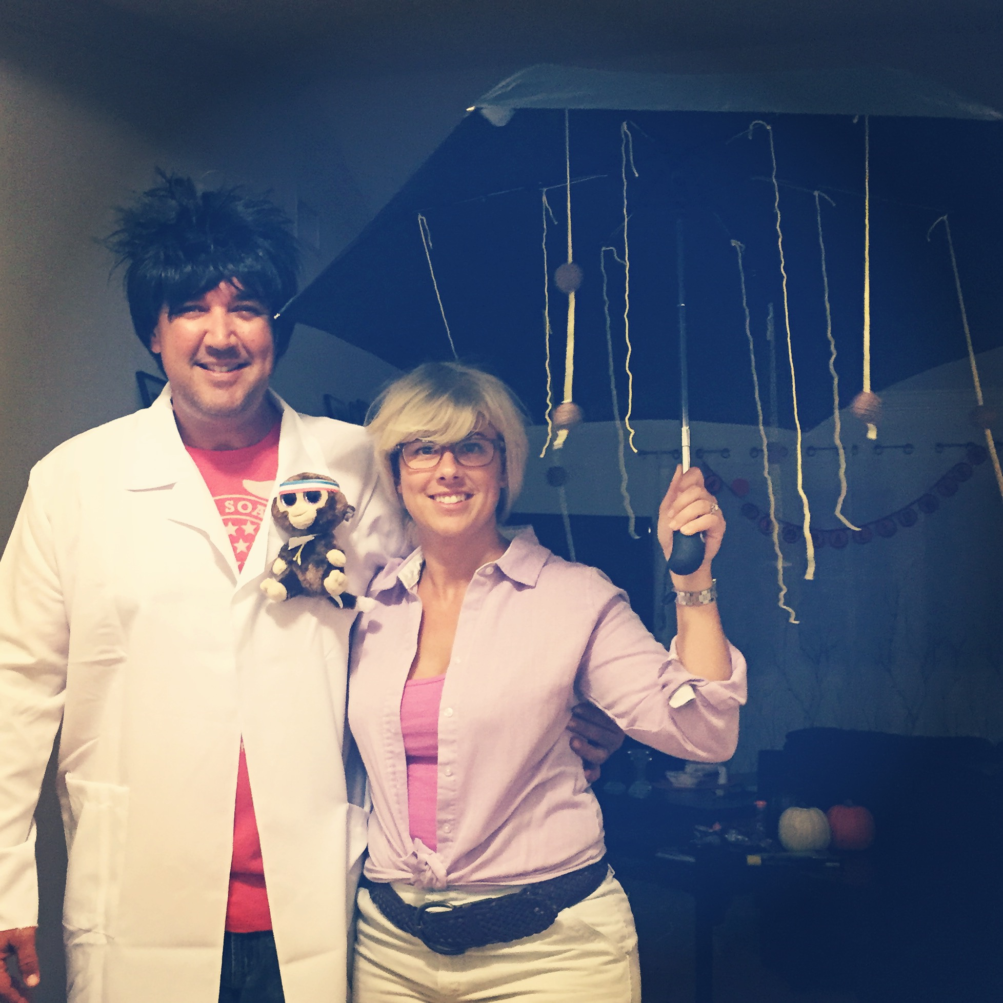 Can you guess who we are? (Hint....it's raining spaghetti & meatballs!)