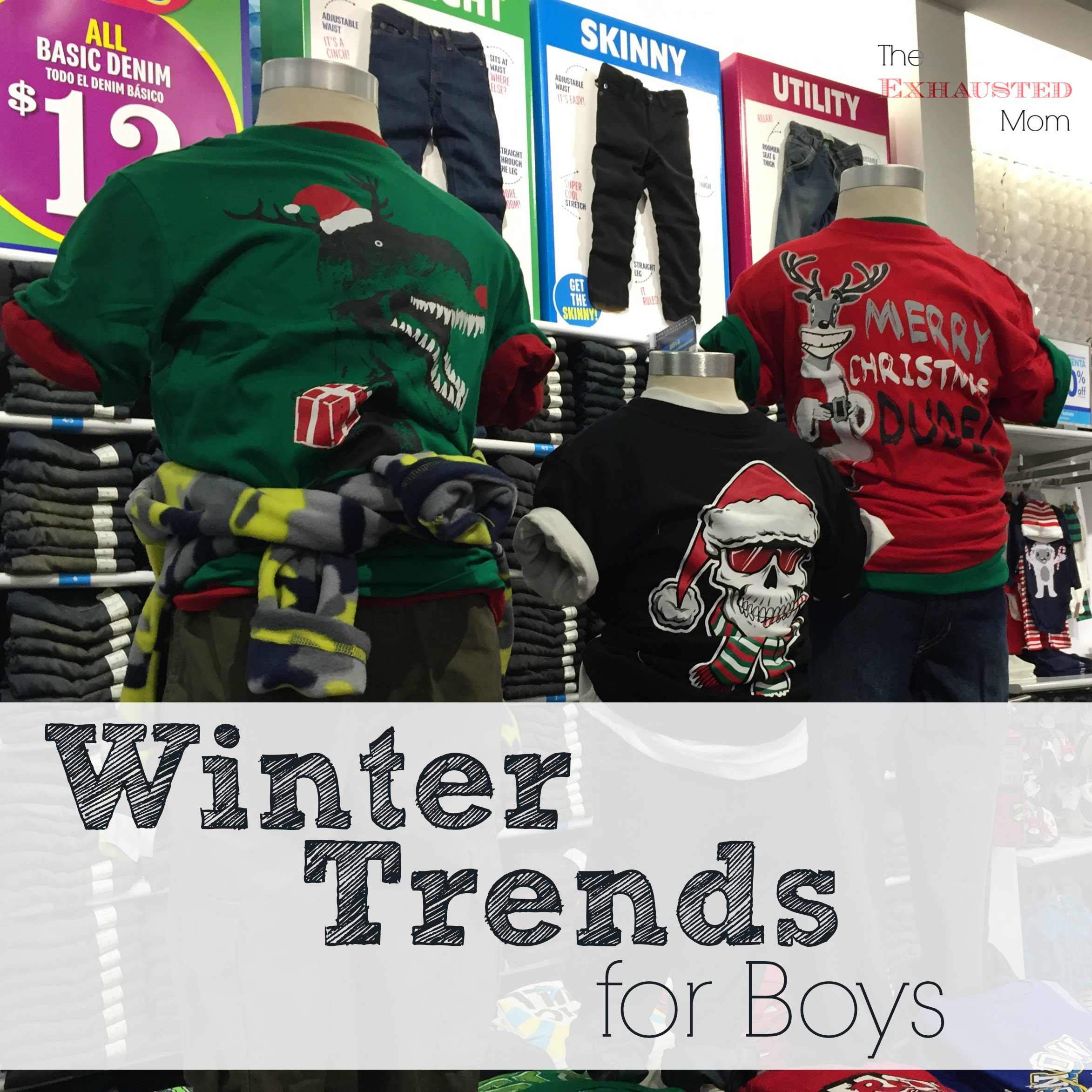 Winter Trends for boys from The Children's Place.