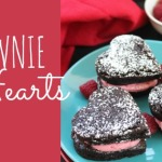 Brownie Hearts for Valentine's Day