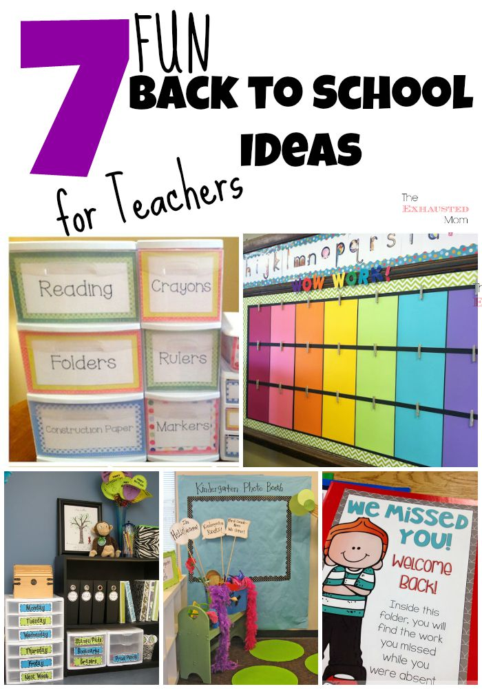 7 fun back to school ideas for teachers the exhausted mom for Back to school decoration