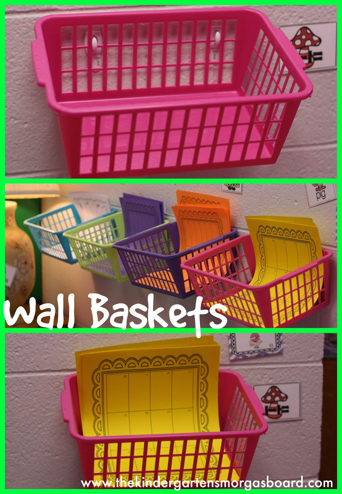 wall baskets Collage