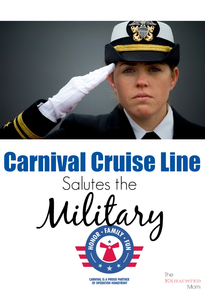 Carnival Salutes the Military