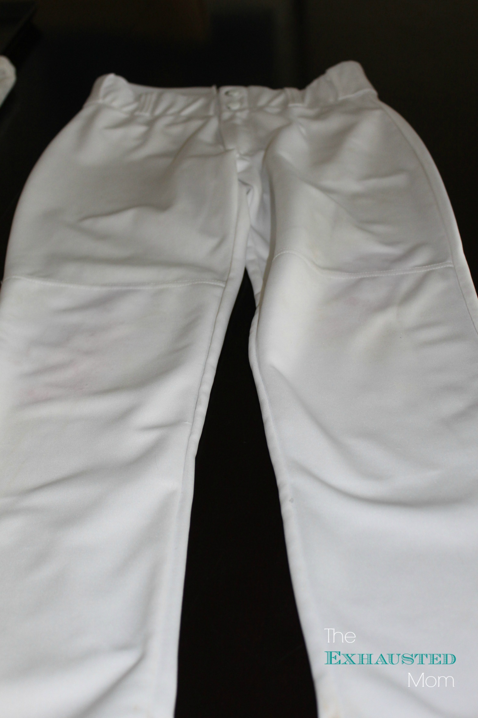Clean baseball pants