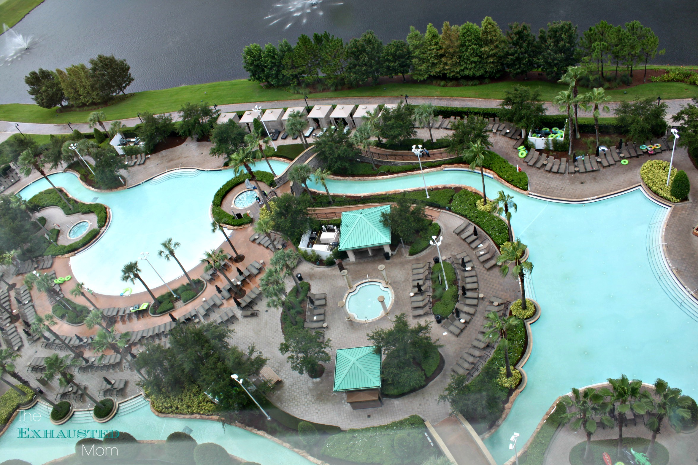 Hilton Orlando Bonnet Creek's 3 acre lazy river.