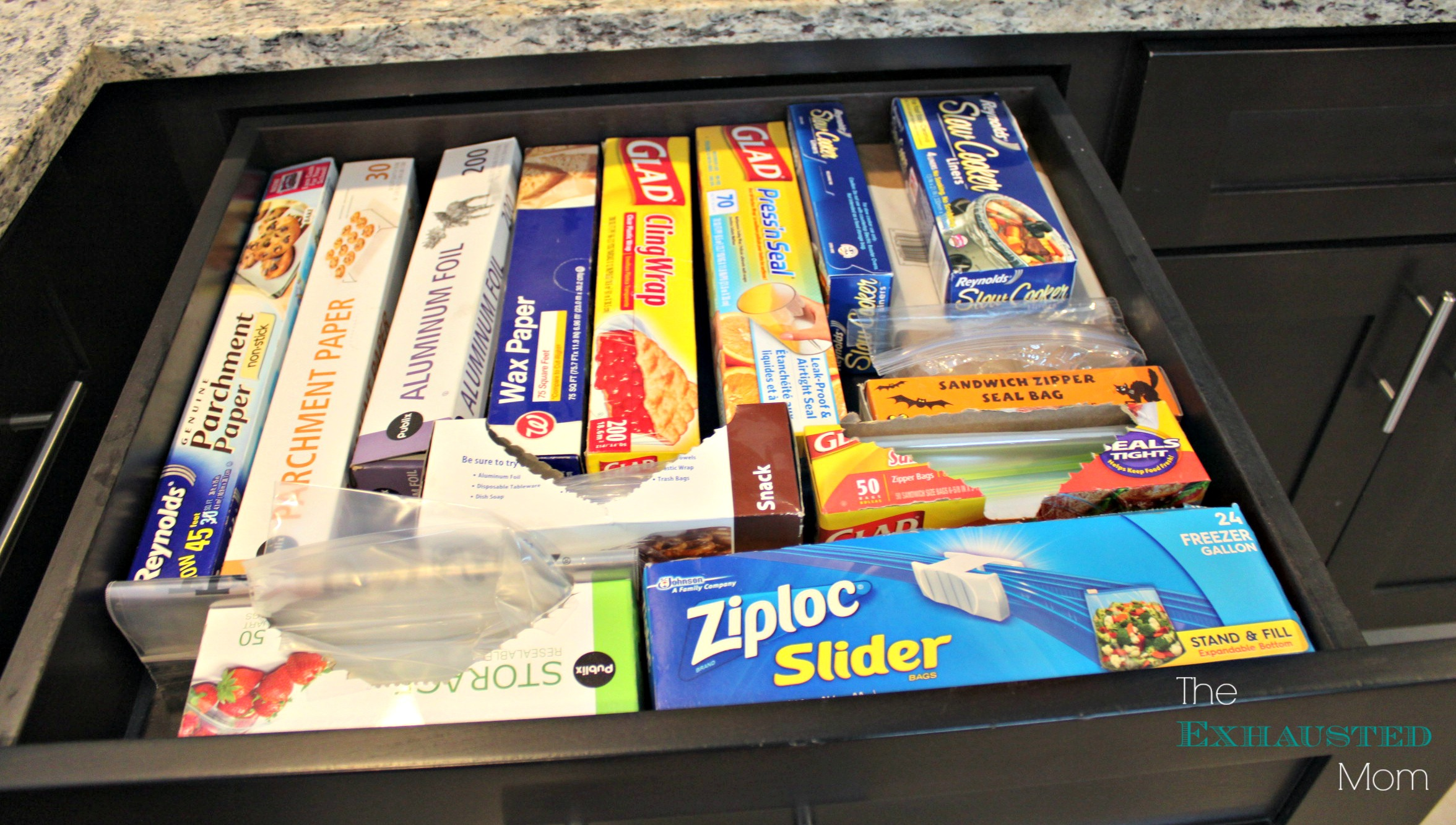 Bag Drawer Organization