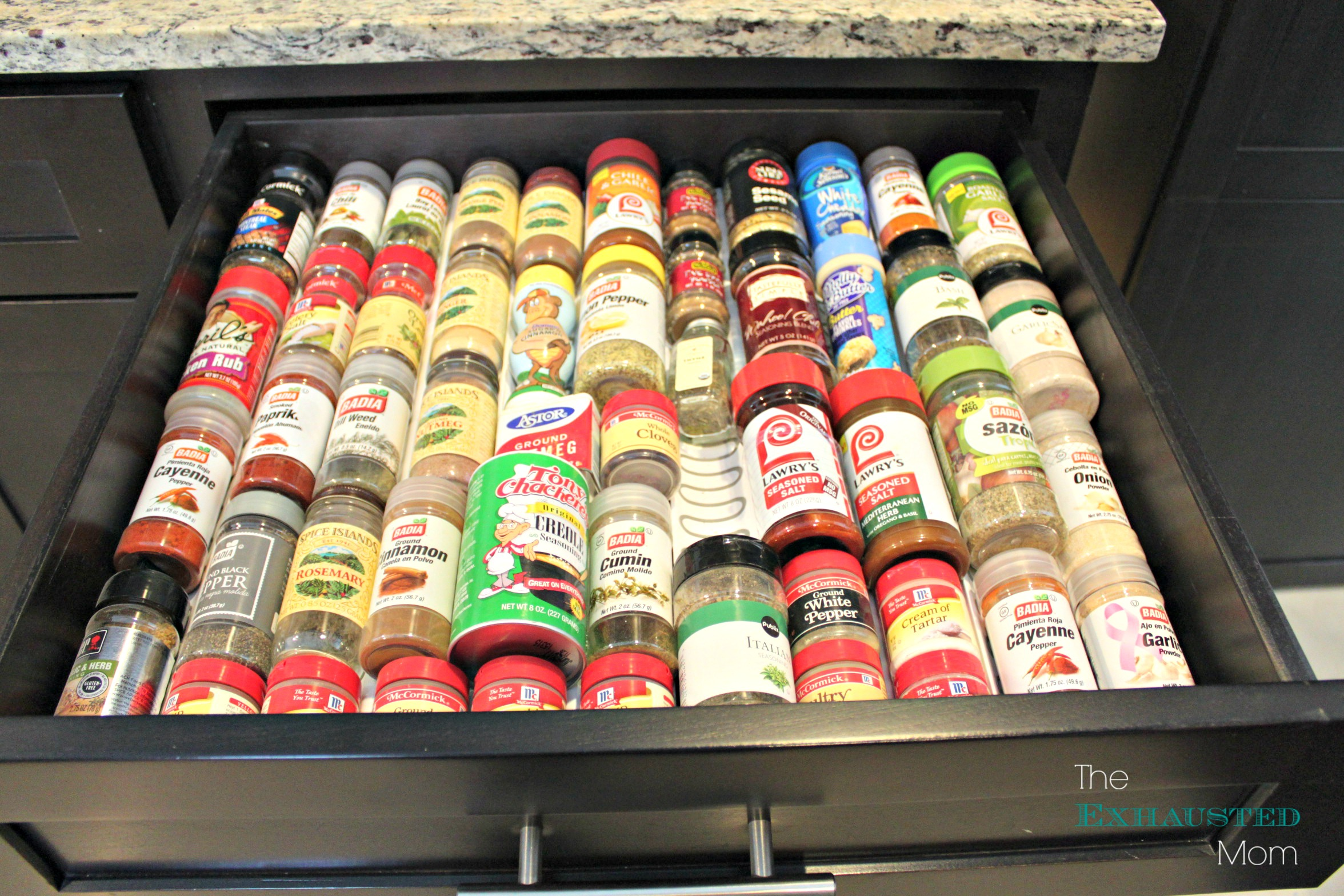 LOVE my spice drawer!