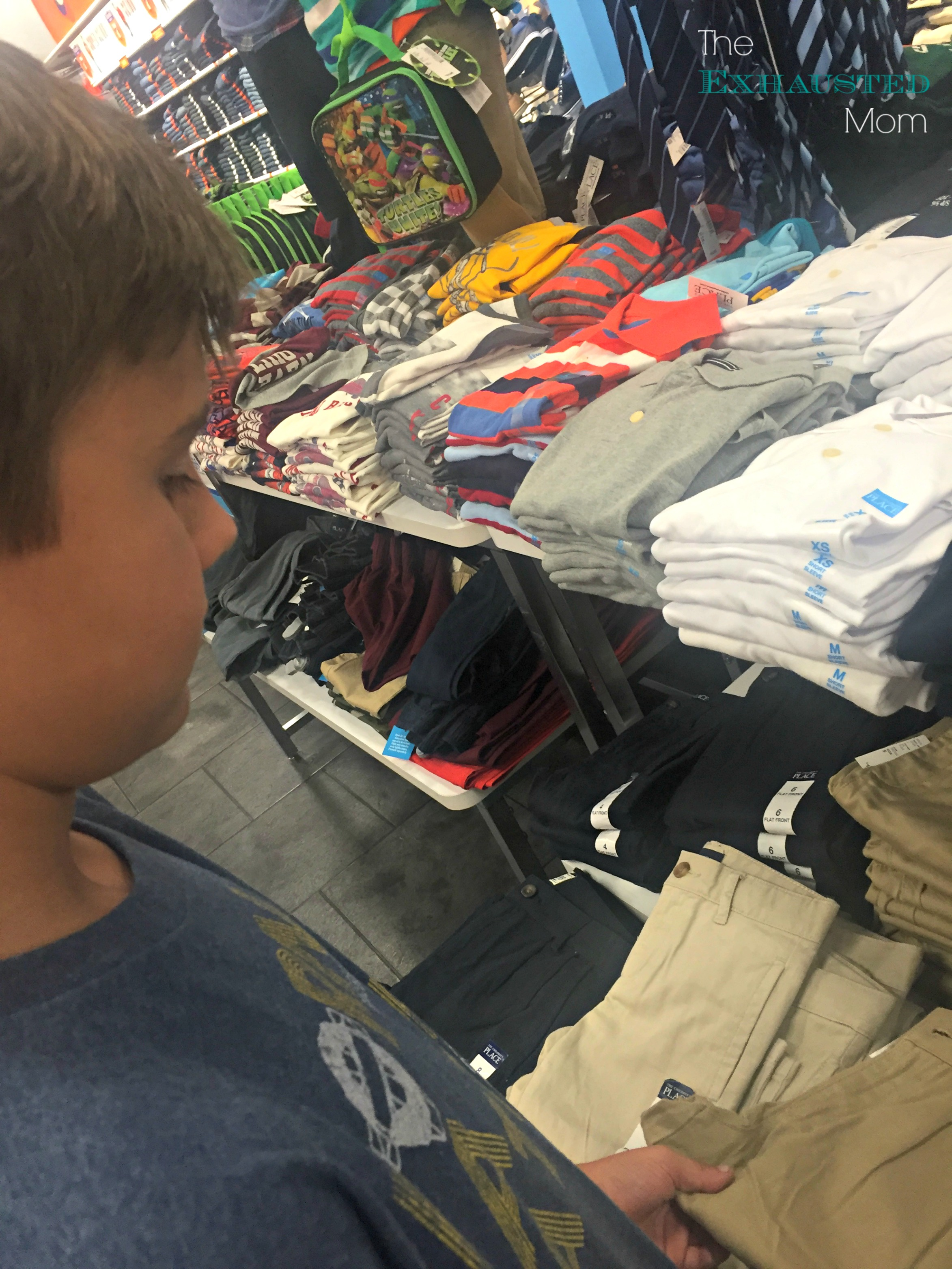 Back to School Shopping with Boys