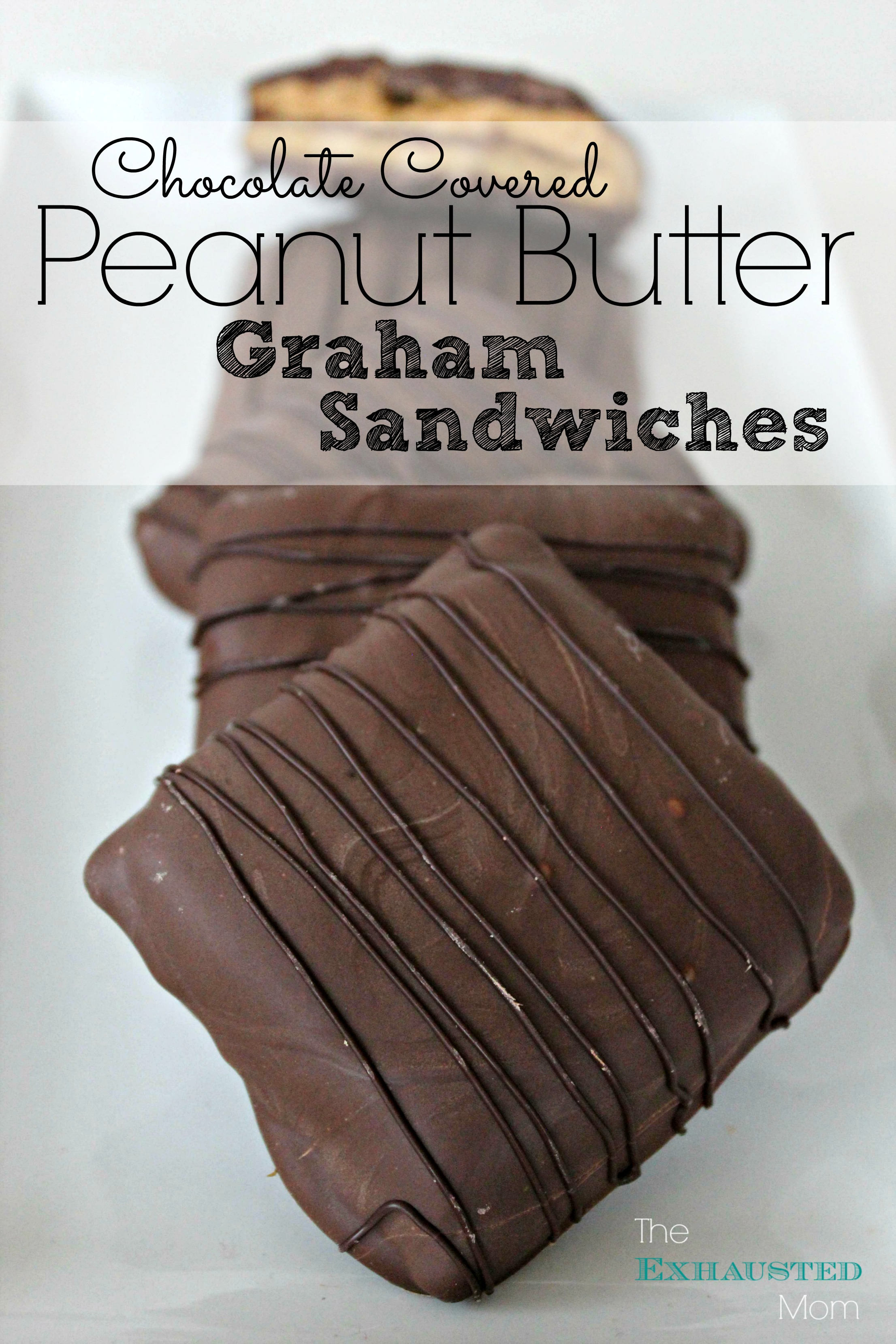 Chocolate Covered Peanut Butter Graham Sandwiches