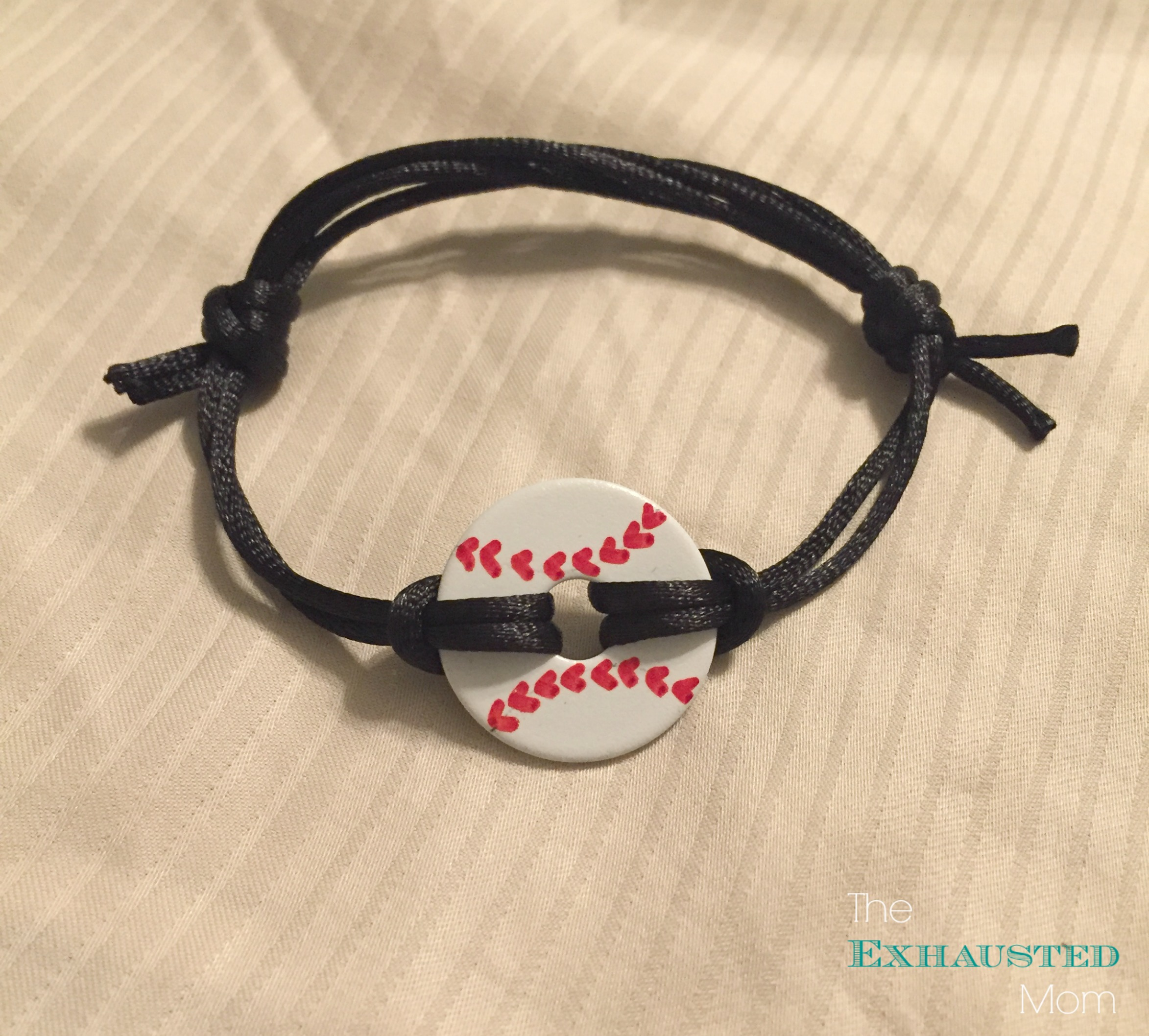 mom bracelet the necklaces washer diy homemade exhausted baseball
