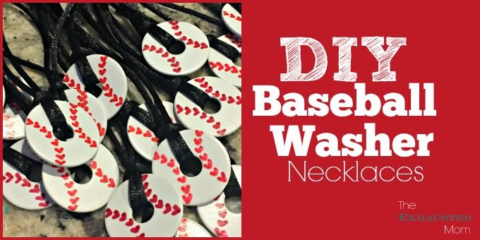DIY Baseball Washer Necklaces