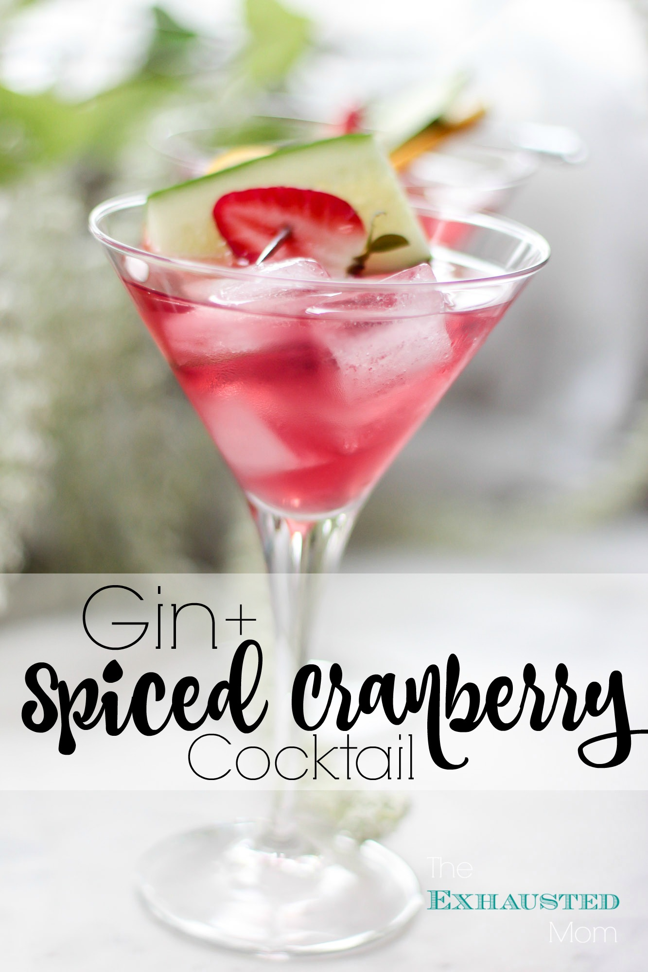 Gin + Spiced Cranberry Cocktail