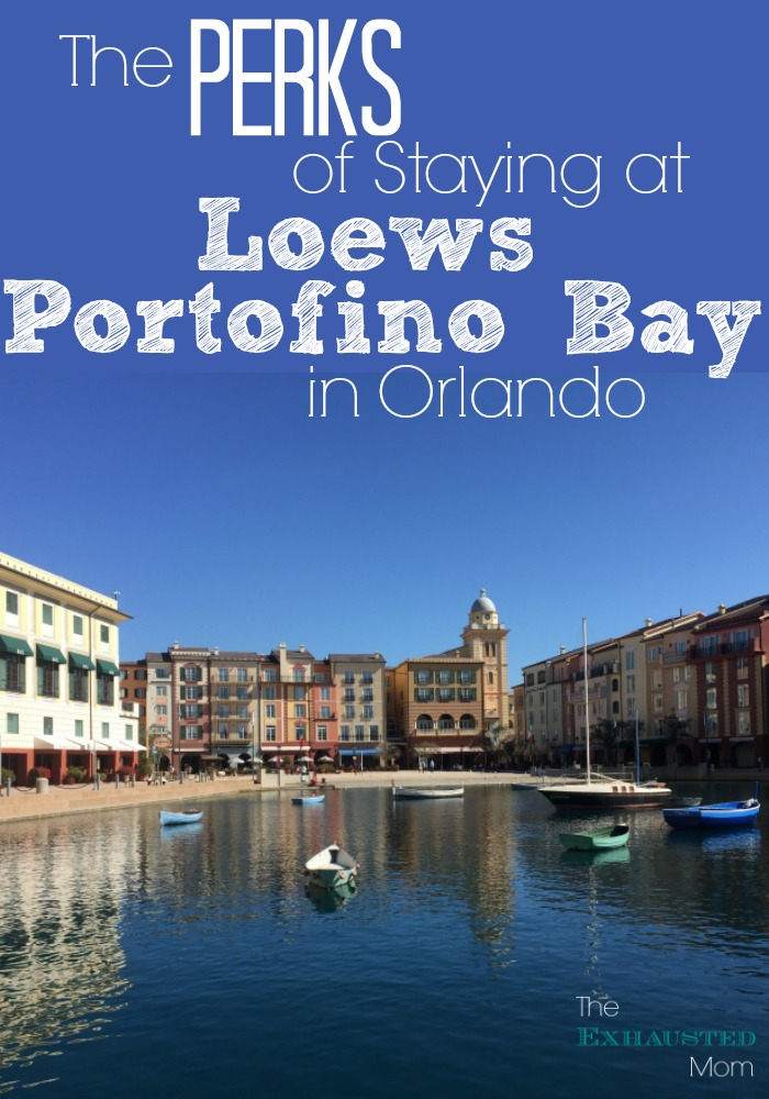 perks of staying at loews portofino bay in orlando the exhausted mom
