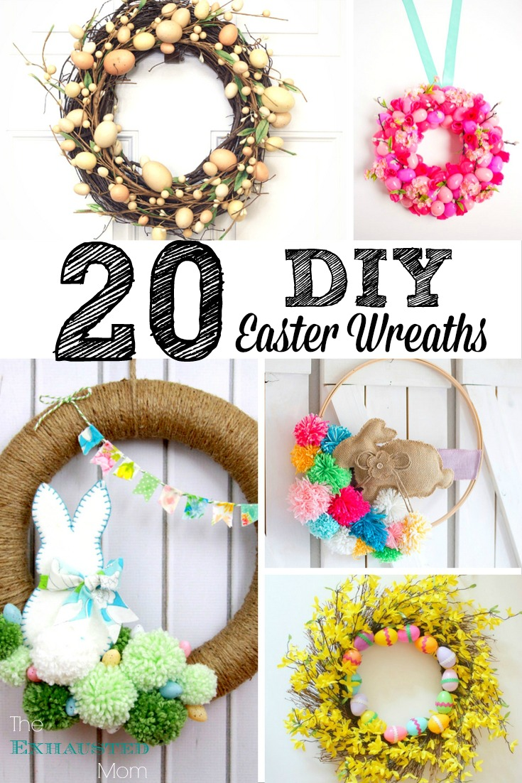 20 DIY Easter Wreaths